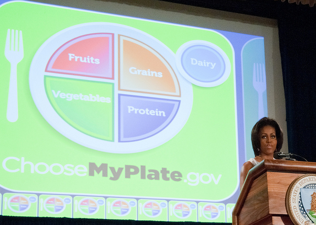 Michelle Obama promotes healthy eating for all Americans