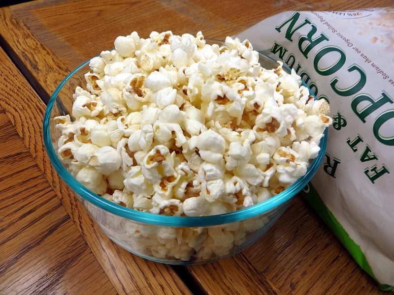 bowl of whole grain popcorn