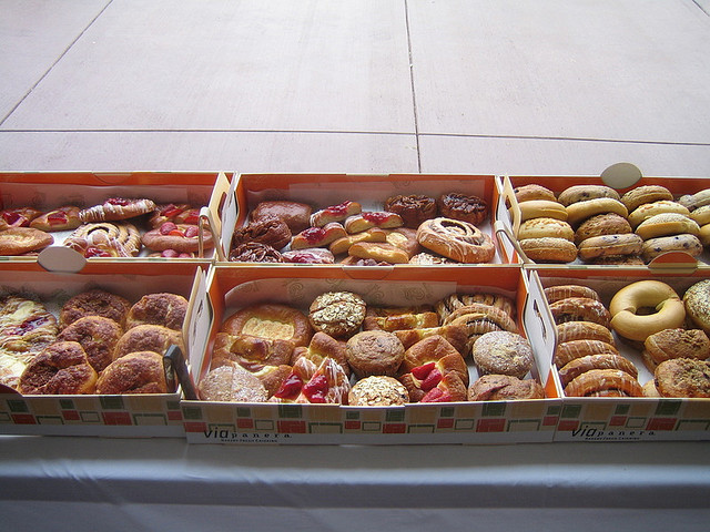 Box of doughnuts and pastries
