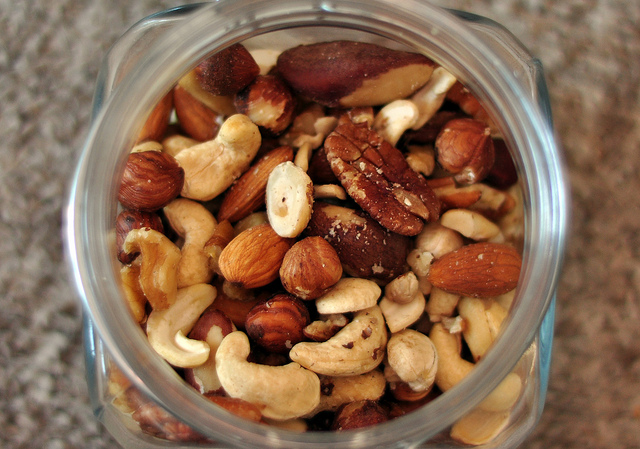 dish of nuts