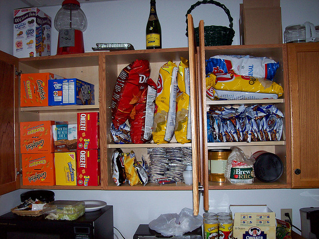 cupboard full of chips
