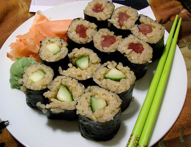 Brown rice sushi rolls