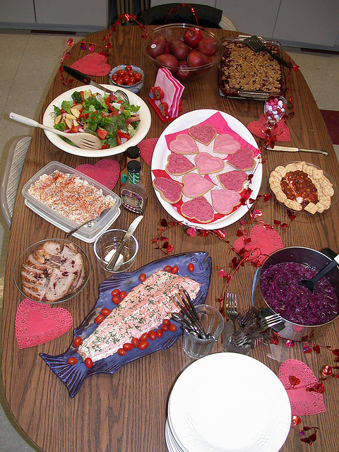 office Valentine's Day lunch
