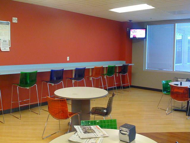 empty colorful break room