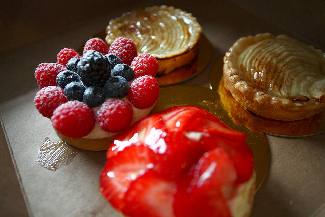 berry tarts and pastries