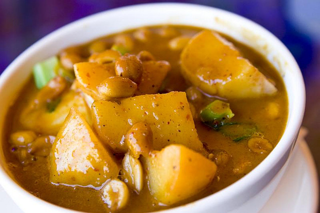 Massaman curry is rich and roasty.