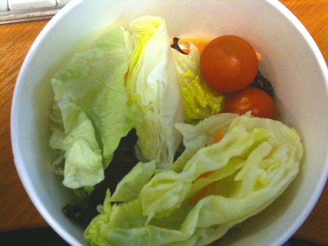 depressing side salad