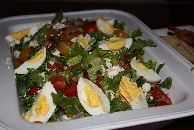 salad with hard-boiled eggs