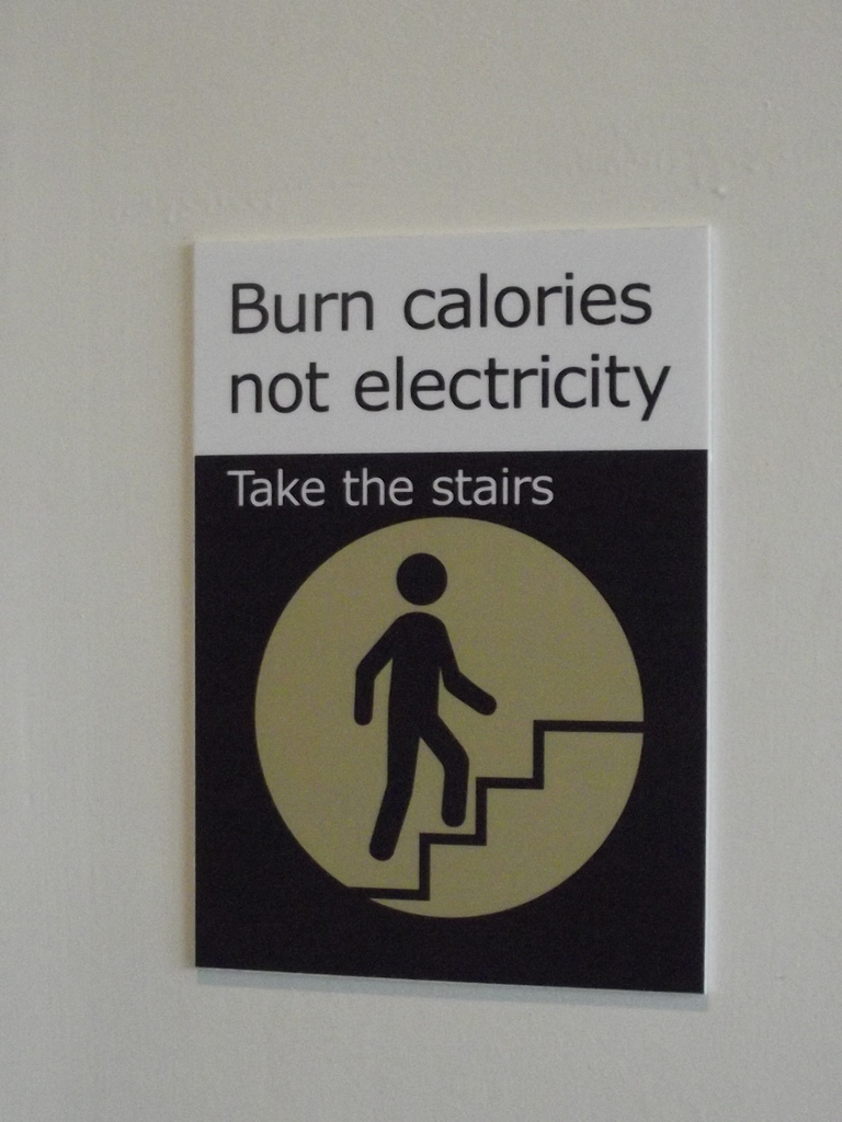 take the stairs sign