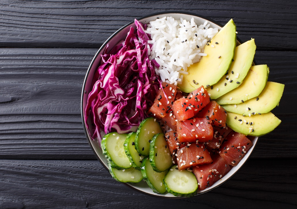 A fresh poke bowl for your office lunch delivery.